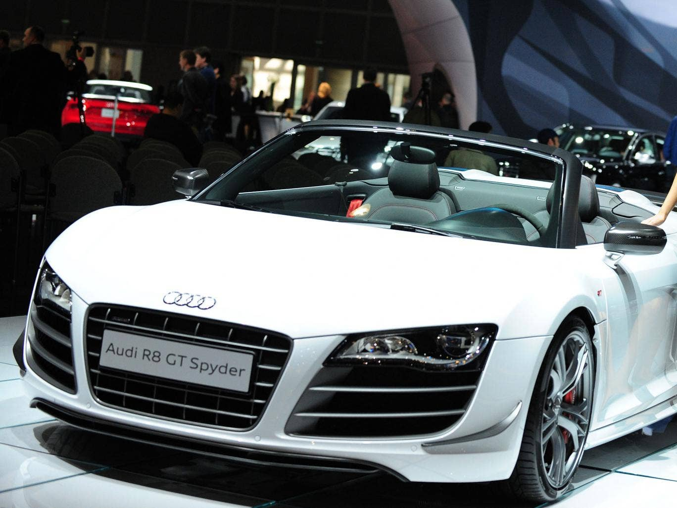 An Audi R8 Spyder, the make of car used by Mr Mahmoon to top 164mph