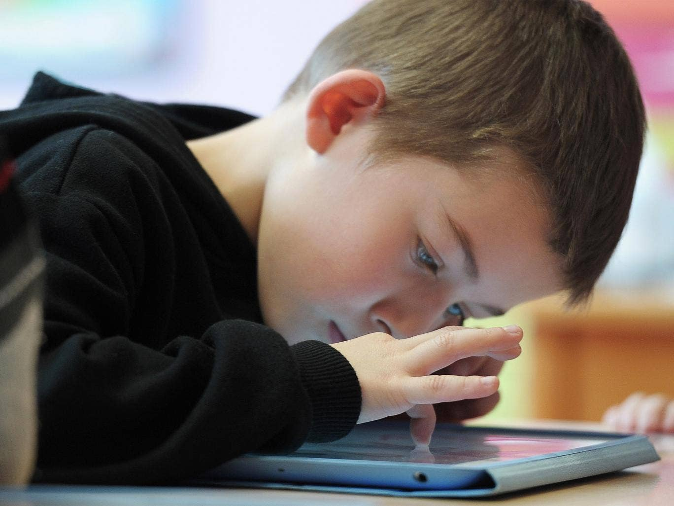 Parents are increasingly allowing children to use their tablets