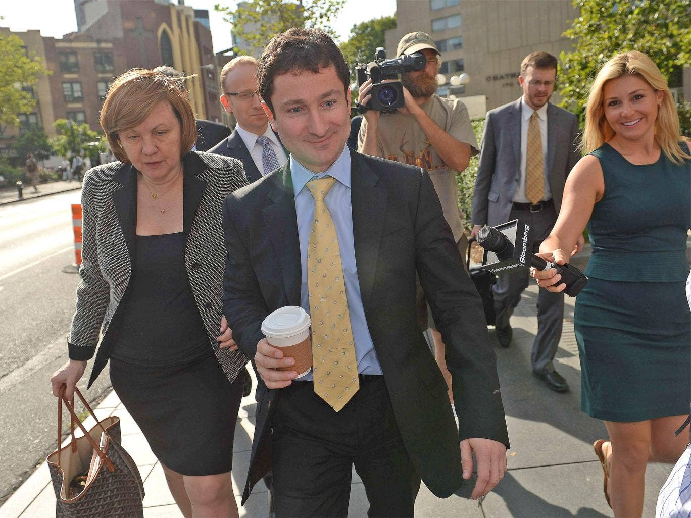 Fabrice Tourre arrives at court in Manhattan as the civil fraud case against him reached its climax