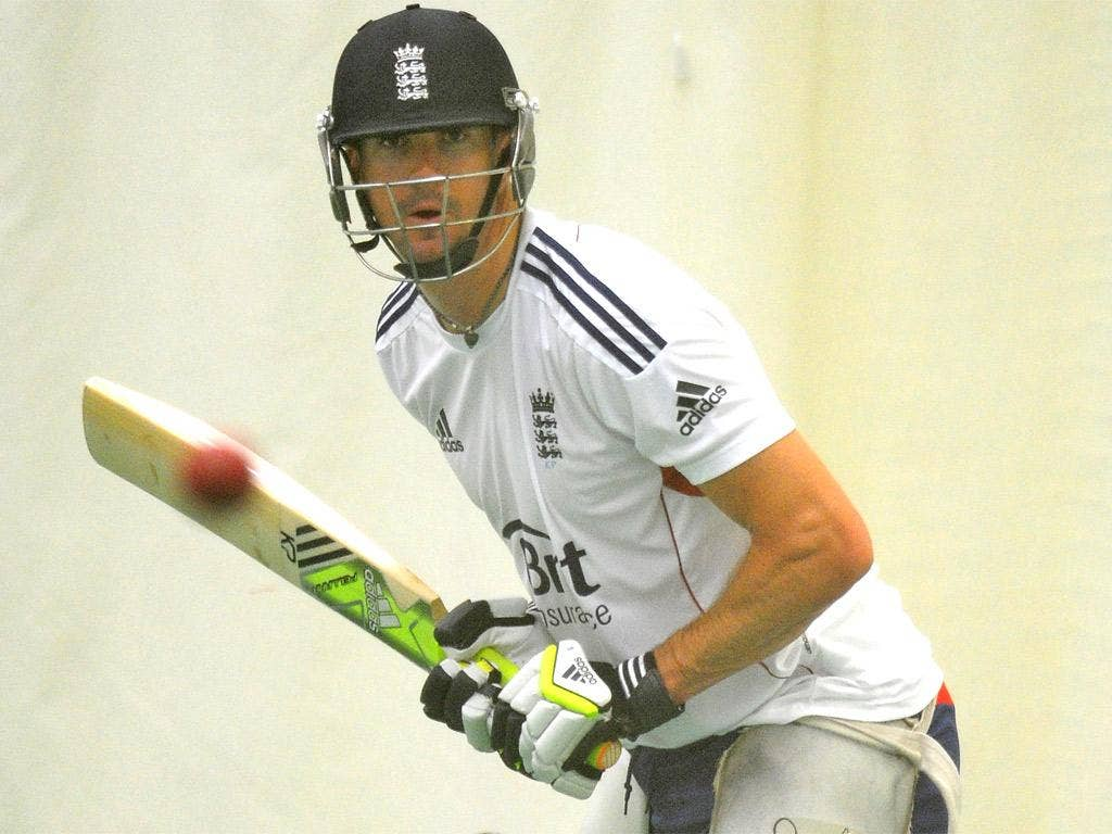 Kevin Pietersen during a nets session at Old Trafford