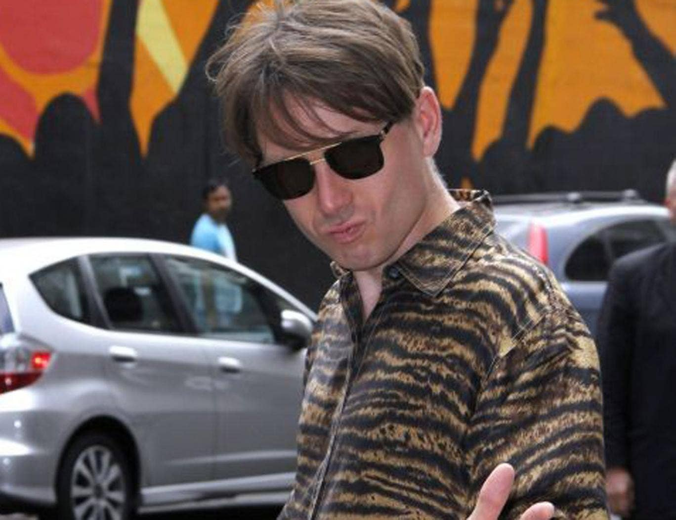 """Alex Kapranos of Franz Ferdinand arrives for the """"Late Show with David Letterman"""""""
