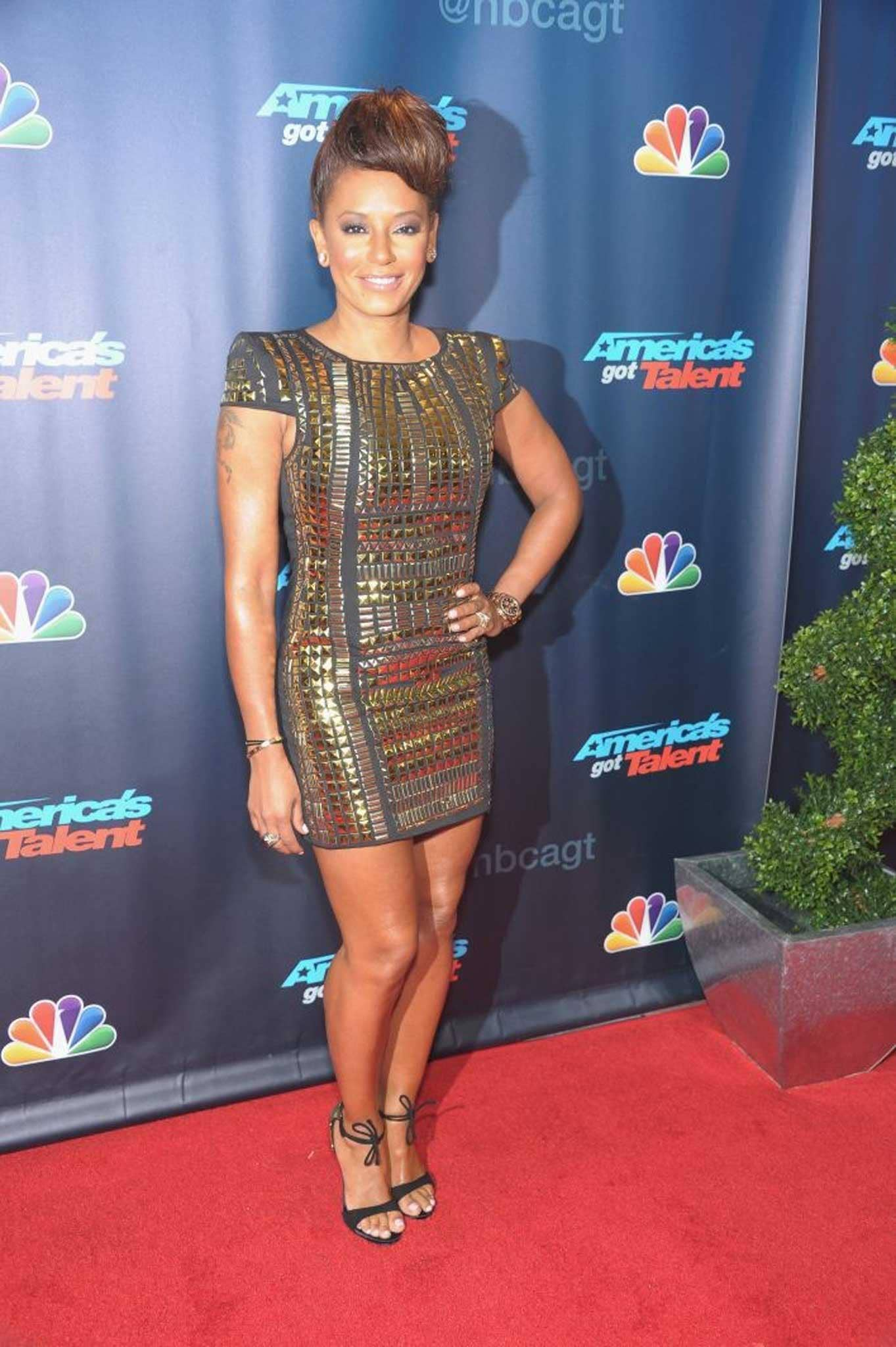 Mel B on the red carpet at Americas Got Talent's pre-show in New York last month