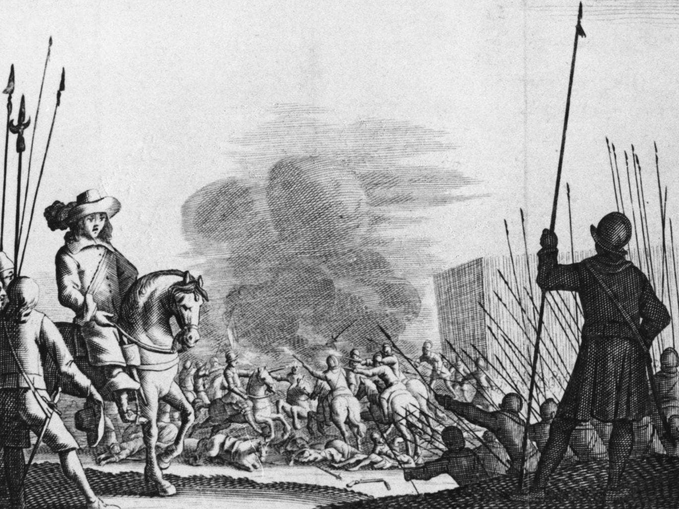 Oliver Cromwell during the third English civil war. A study has found that a warmer world will cause more inter-group conflict and civil wars