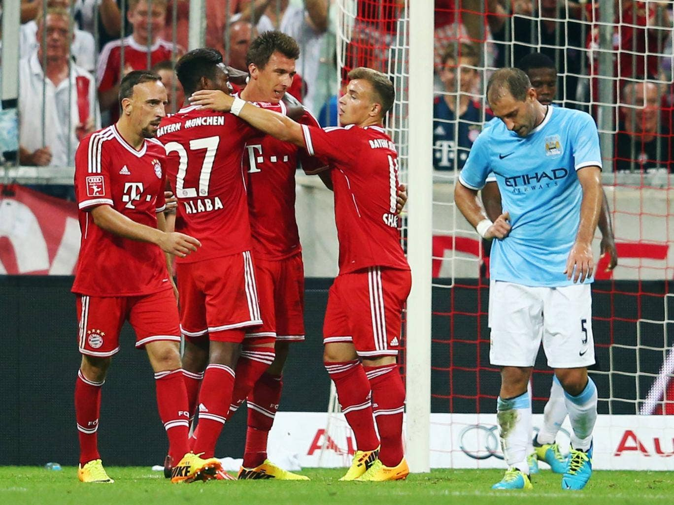 Mario Mandzukic celebrates the winning goal