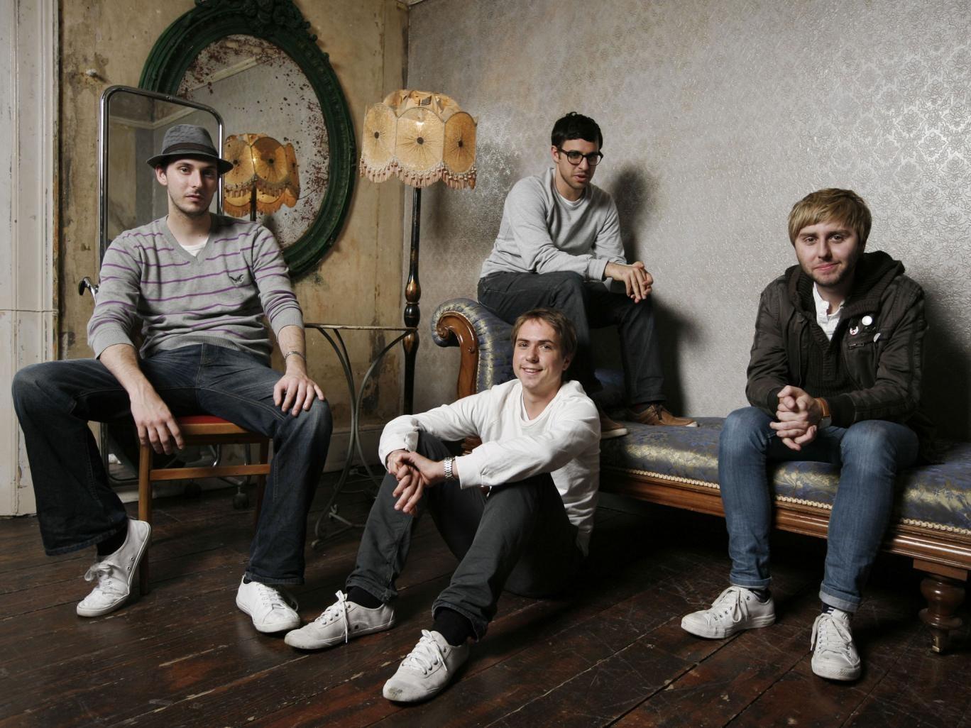 Stars of the massive hit TV show The Inbetweeners, Blake Harrison, Joe Thomas, Simon Bird and James Buckley