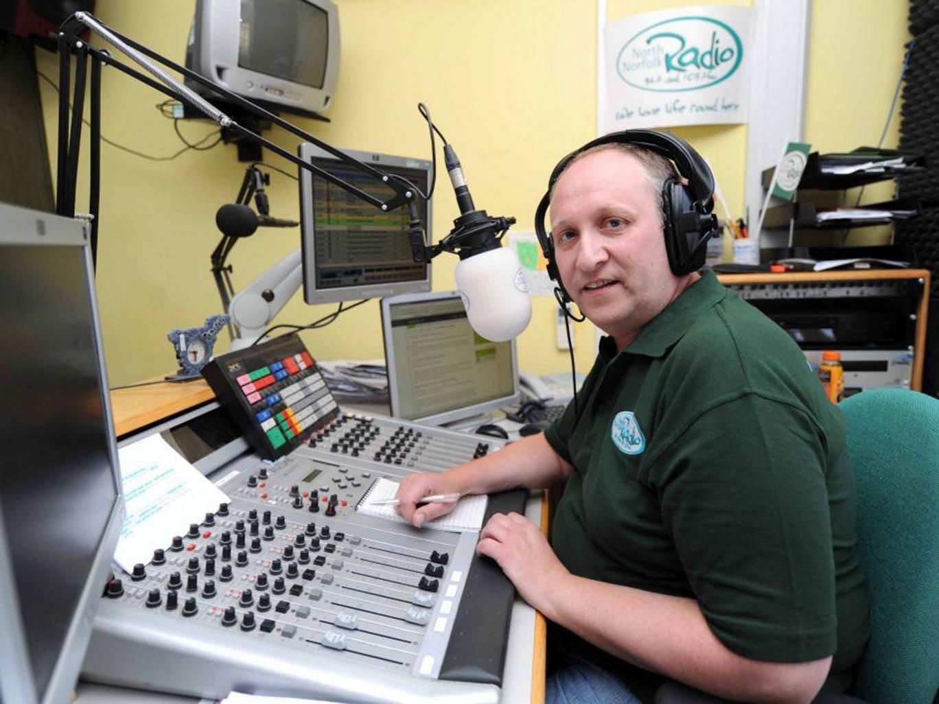 DJ Graham Lewis, aka the real Alan Partridge,  who works for North Norfolk Radio