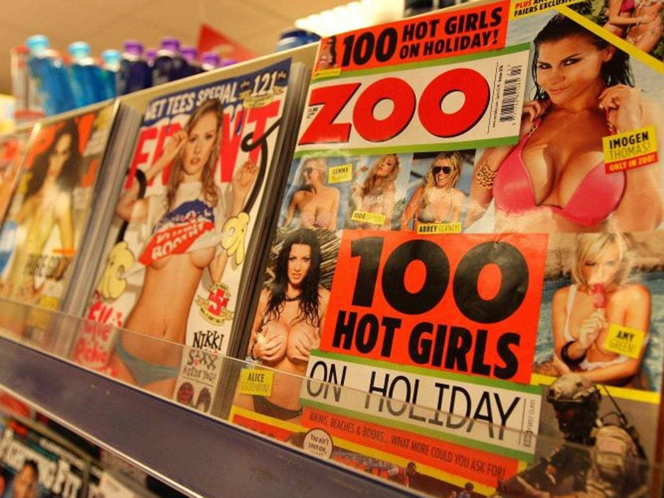 Tesco has struck a 'modesty deal' regarding the front covers of magazines such as Zoo, Nuts and Front and Bizarre will be supplied in a bag