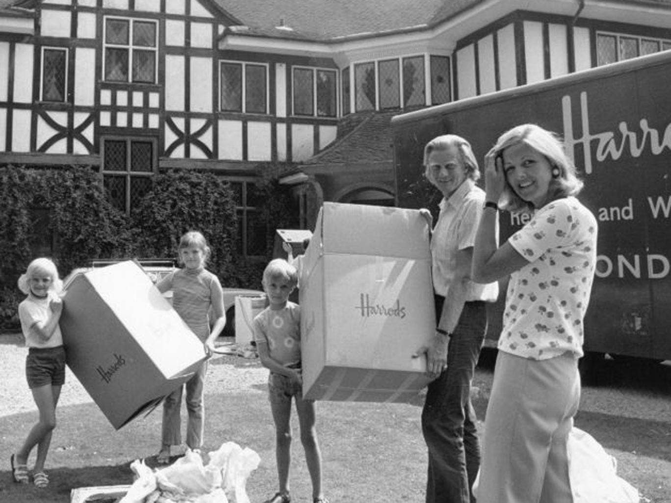 When the Heseltine family were moving home in 1973, people could look forward to decades of house price rises