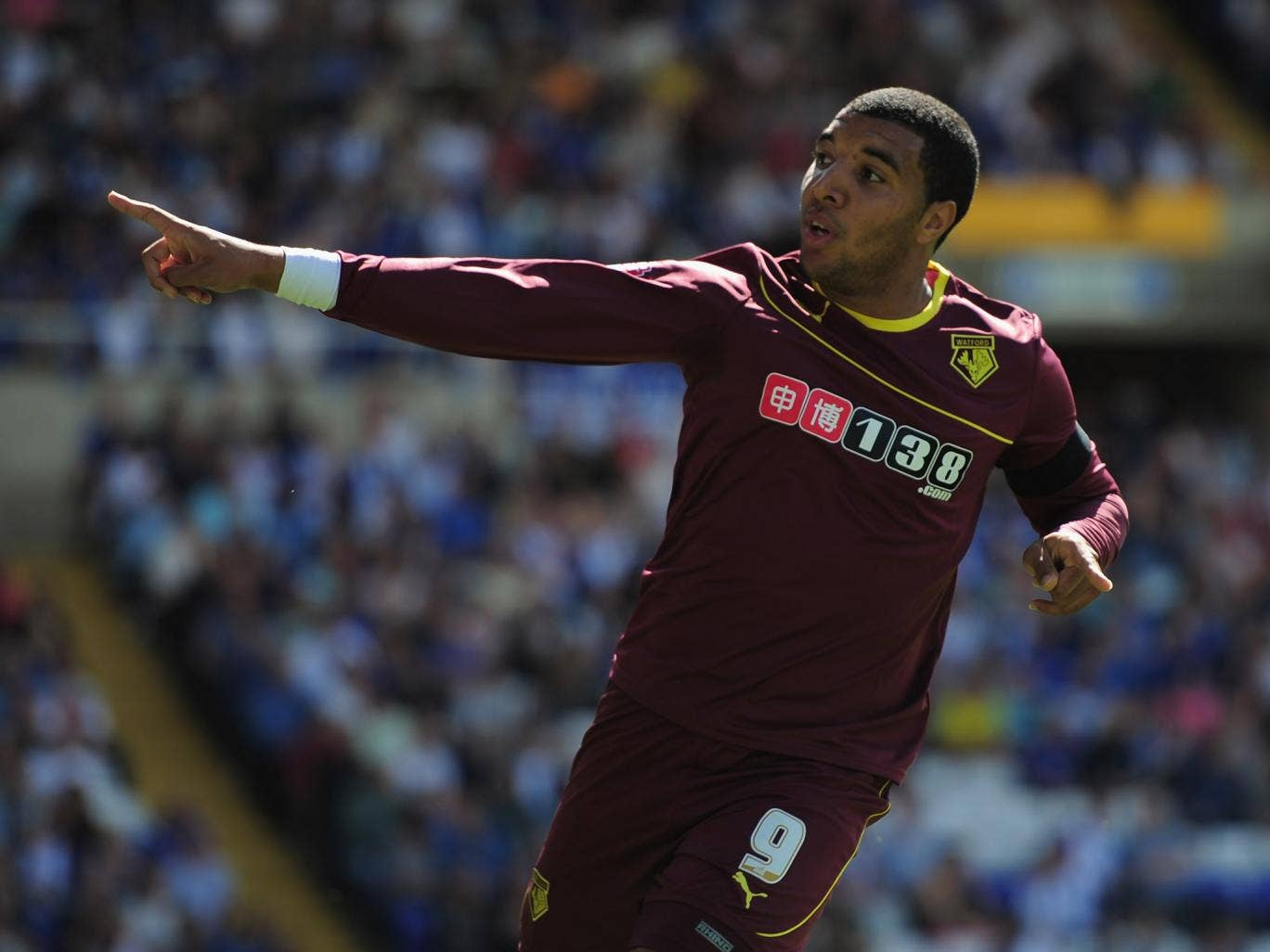 Troy Deeney celebrates scoring against his boyhood-club Birmingham to give Watford a 1-0 win (Getty Images)