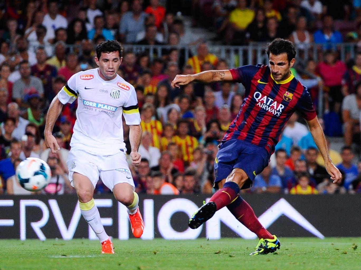 Cesc Fabregas in pre-season action for Barcelona