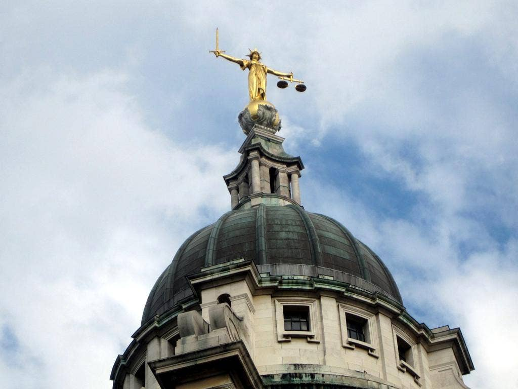 The statue of Justice at The Old Bailey