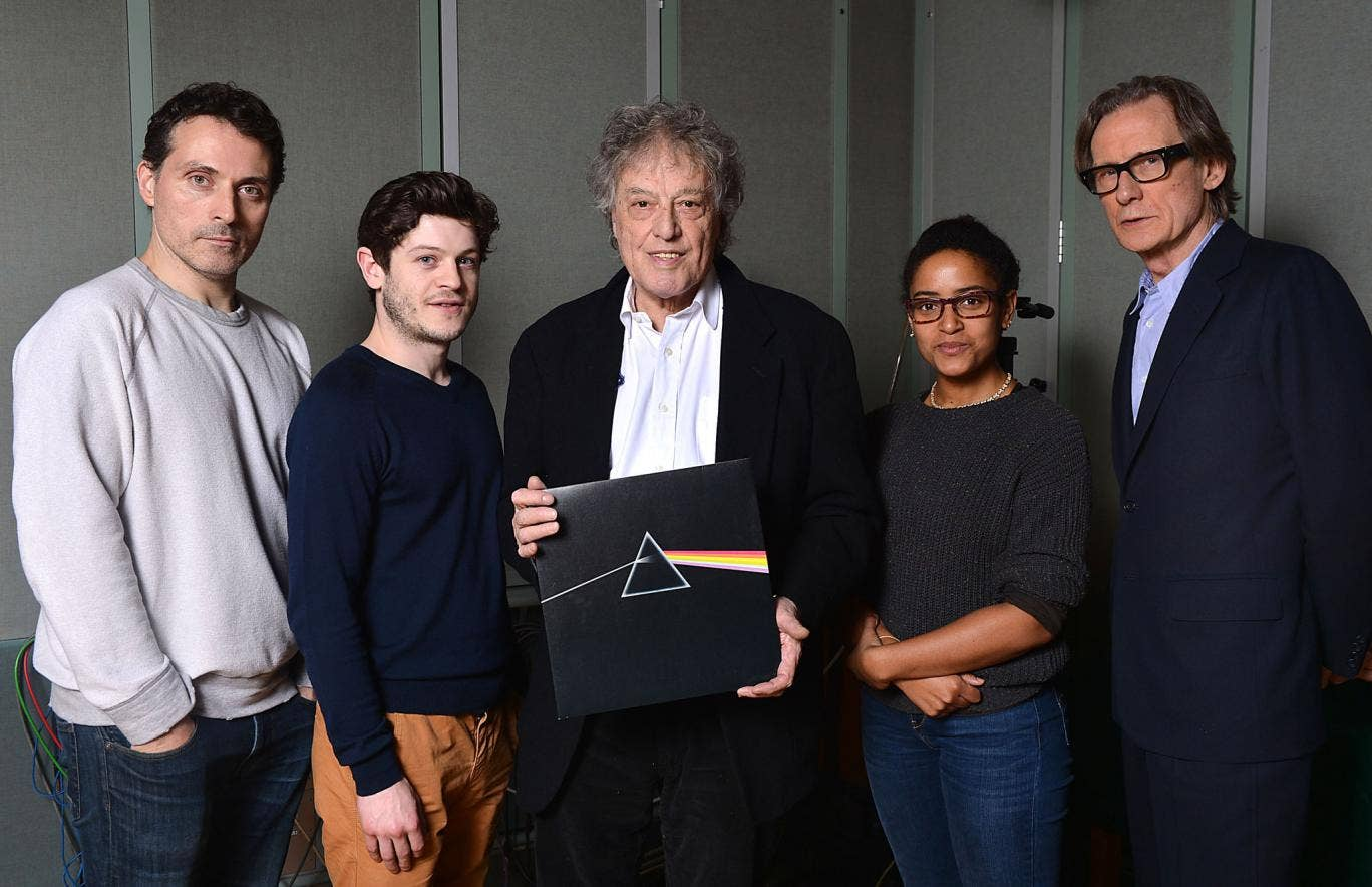 Tom Stoppard (centre) with Bill Nighy (far right)