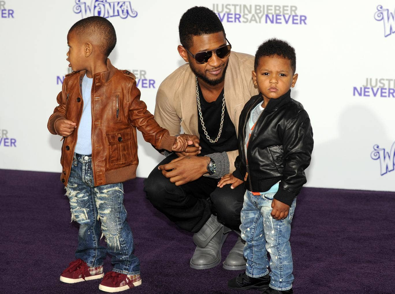 sons by Tameka Foster at a Ryan Glover And Tameka Foster