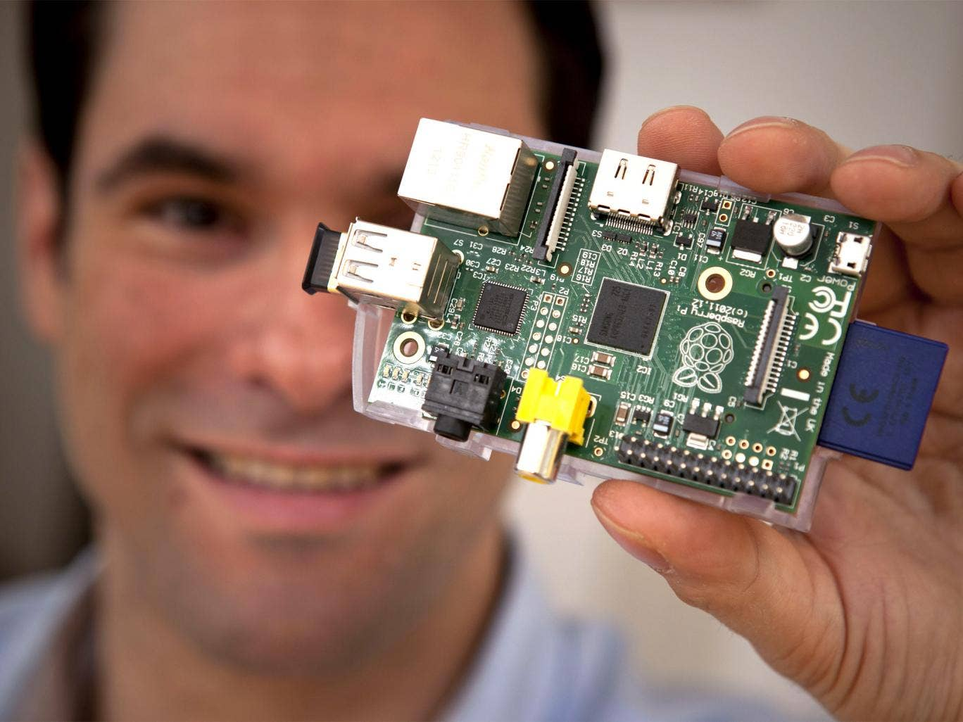 A piece of Pi: Writer Adam Jacques with the 'astonishing' device