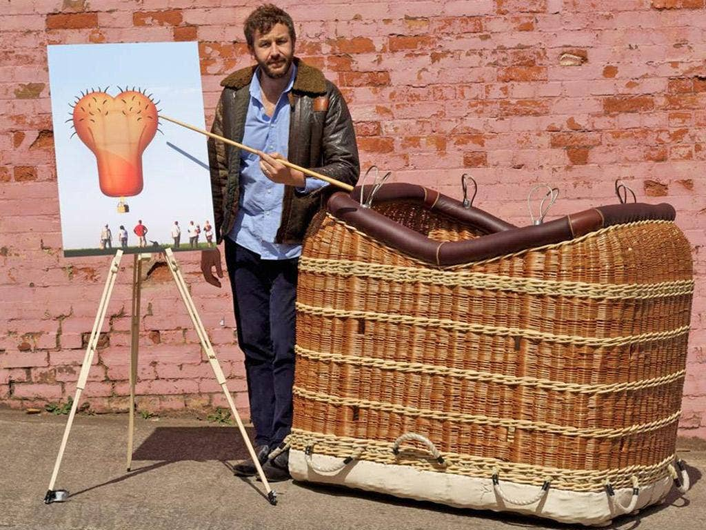Not just hot air: Chris O'Dowd introduces the scrotum balloon