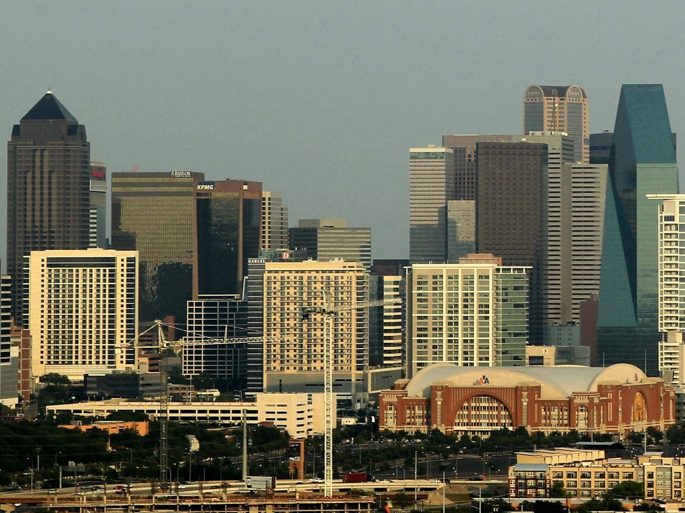 The skyline of downtown Dallas