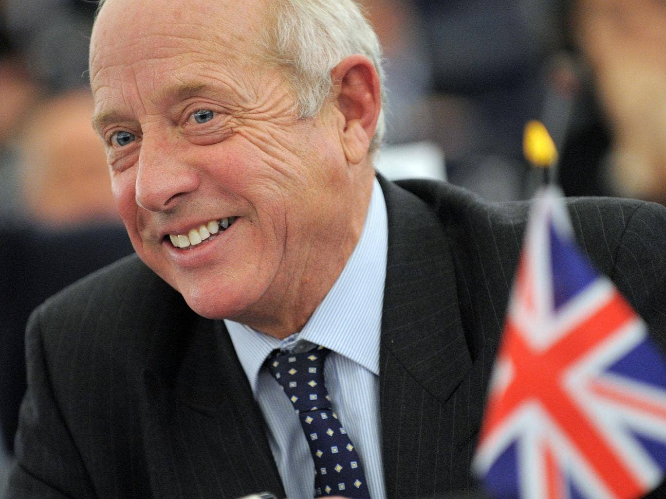 Godfrey Bloom is pictured before his exclusion, at the European Parliament in Strasbourg, eastern France, on November 24, 2010.