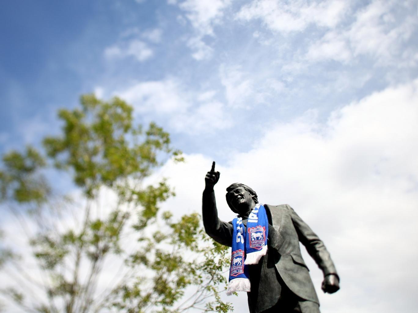 Bobby Robson statue outside Portman Road