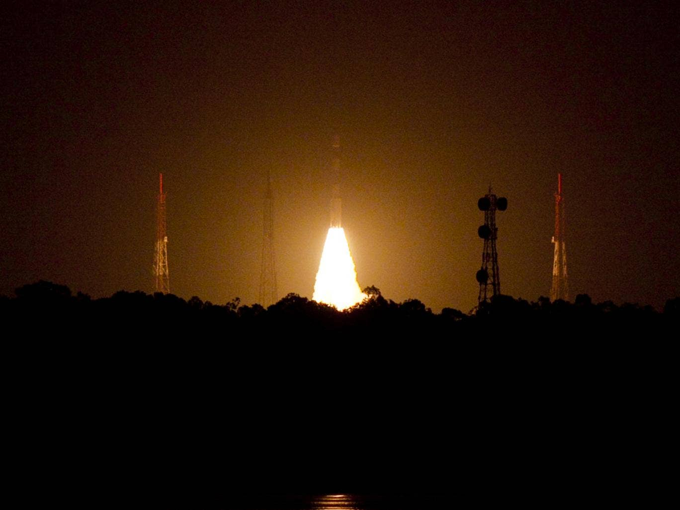 India's Polar Satellite Launch Vehicle (PSLV-C22) is launched from The Satish Dhavan Space Centre Sriharikota. India, the world's fourth largest economy and the biggest recipient of non-humanitarian aid from Britain already has 60 satellites in space