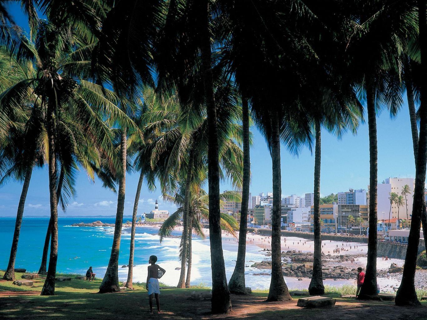 Salvador's shoreline and the Barra lighthouse