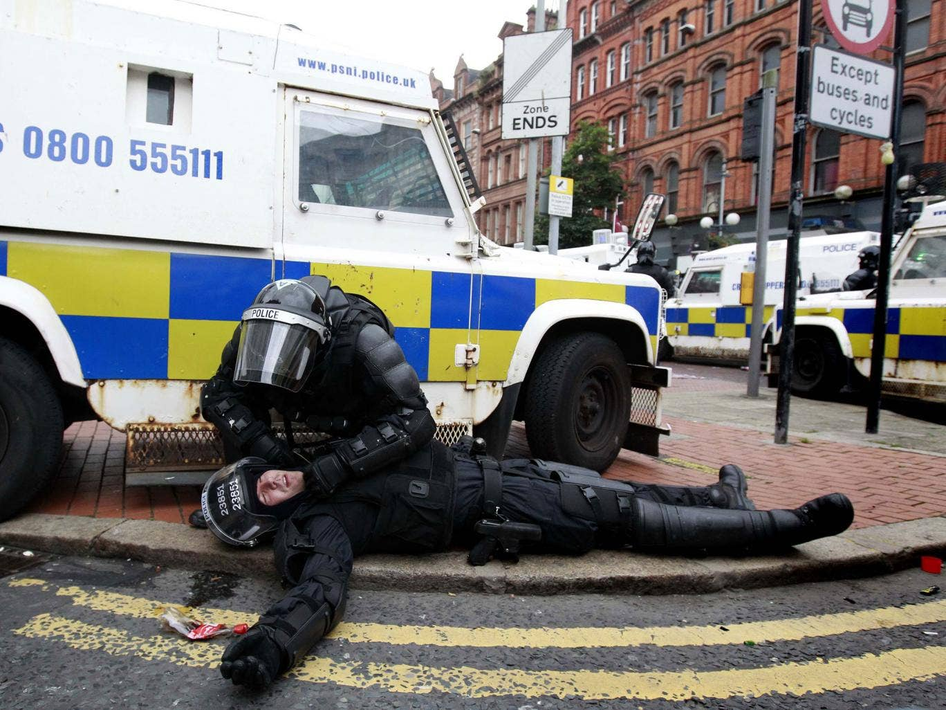 Police fear violence, seen in Belfast on Friday, will be repeated in Castlederg