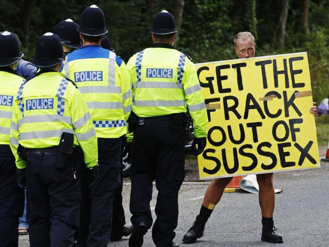 The Sussex protest is spreading