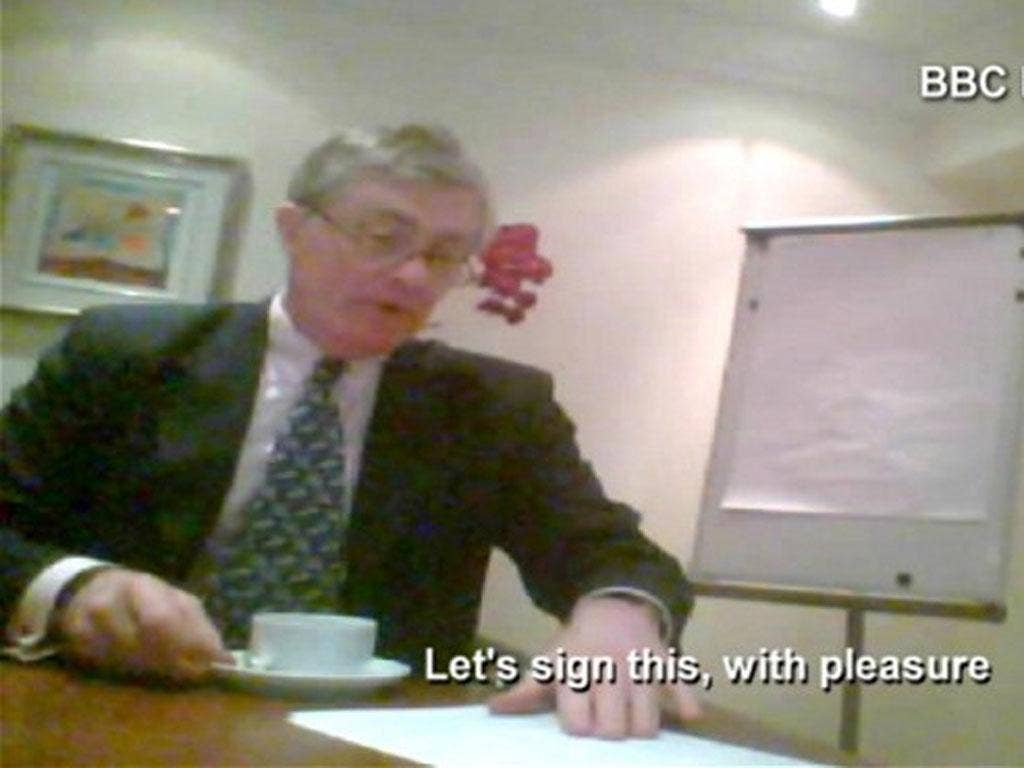 Conservative MP Patrick Mercer was filmed by the BBC's 'Panorama' agreeing to lobby on behalf of Fiji