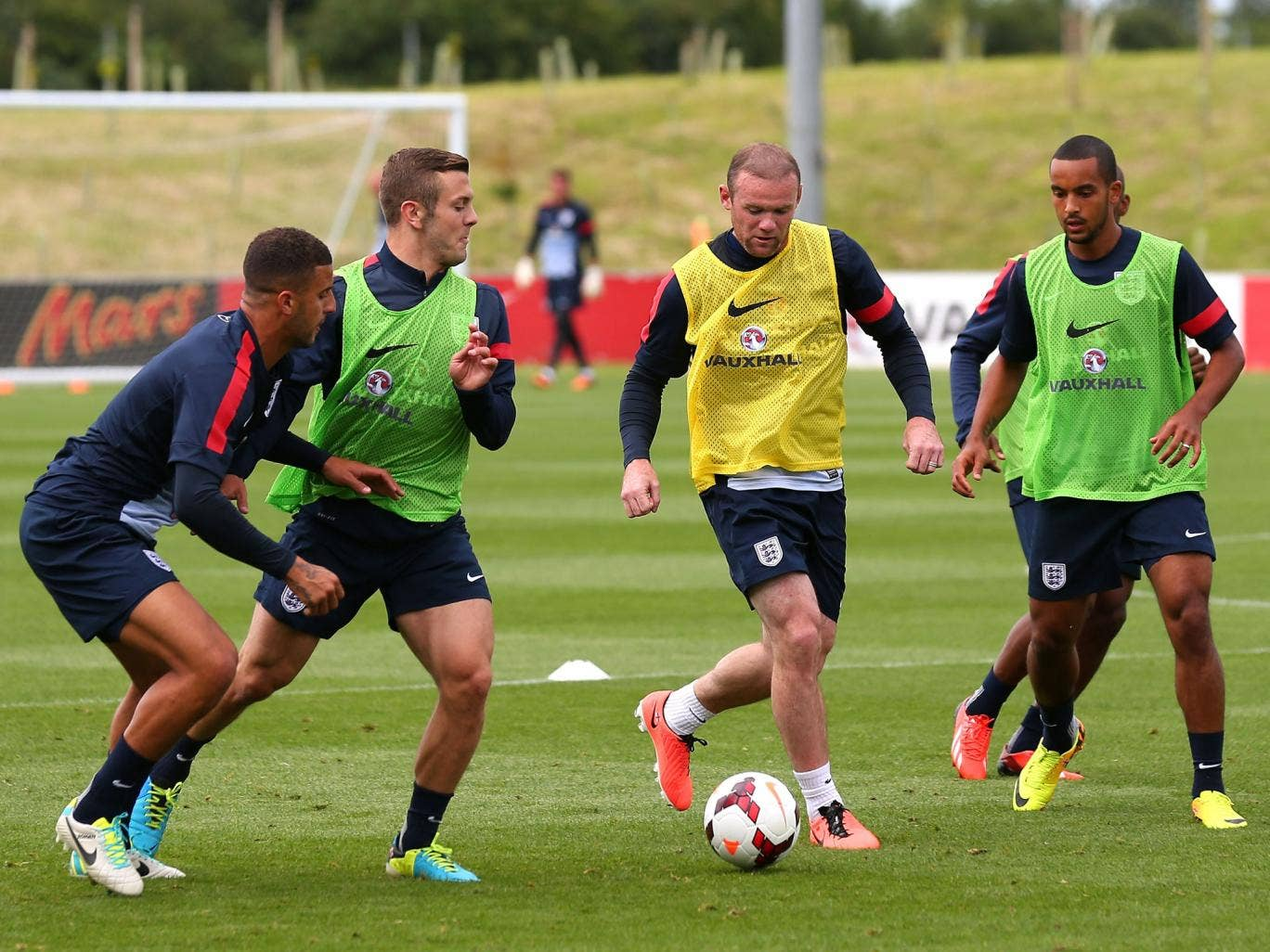 Wayne Rooney played a full part in England training
