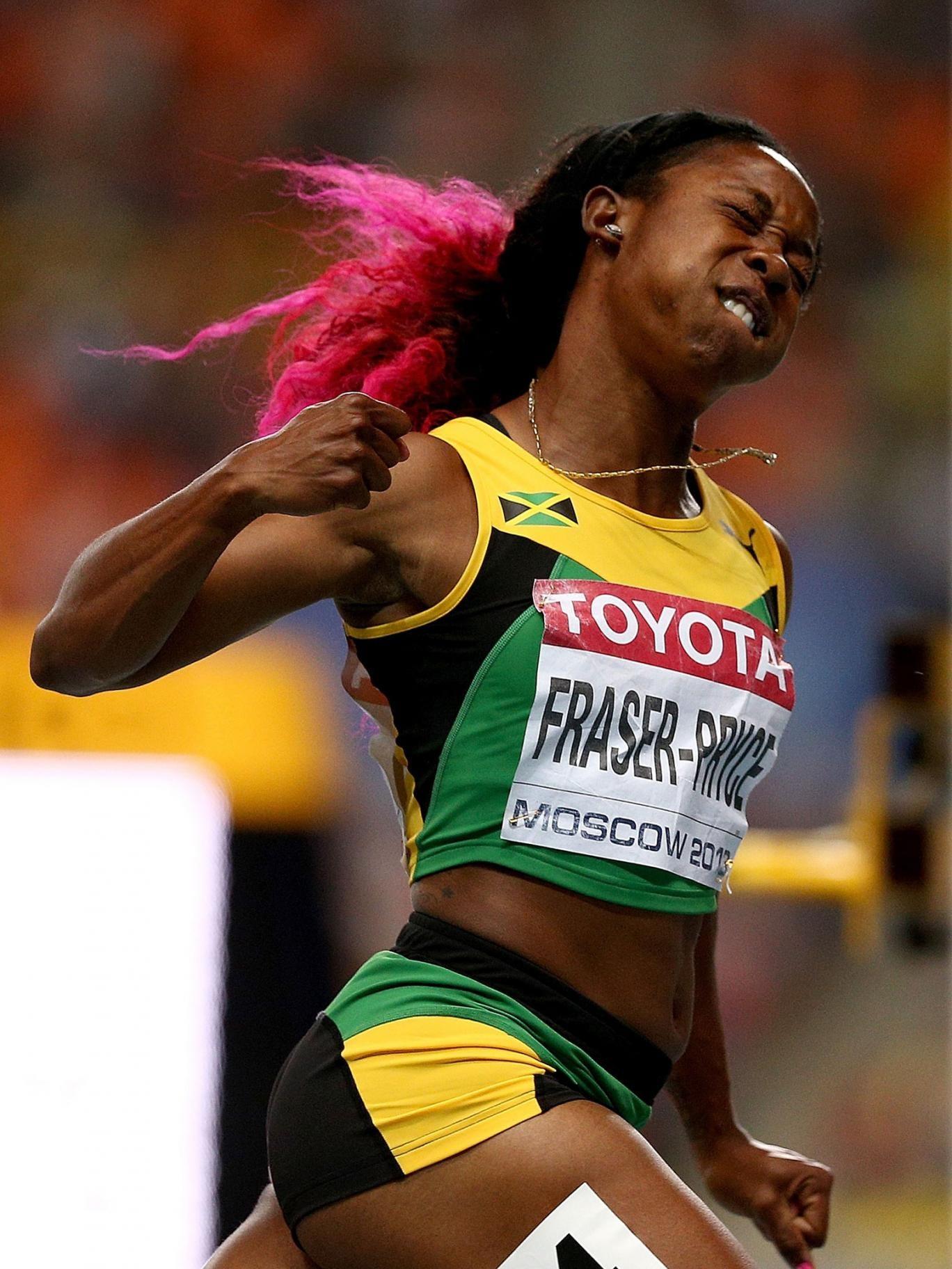 Shelly-Ann Fraser-Pryce left her nearest 100m rivals for dead