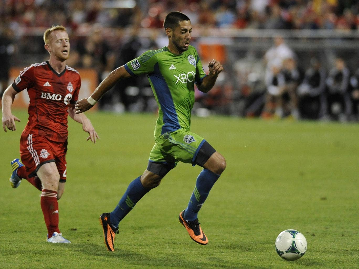 Clint Dempsey in action for his new club Seattle Sounders