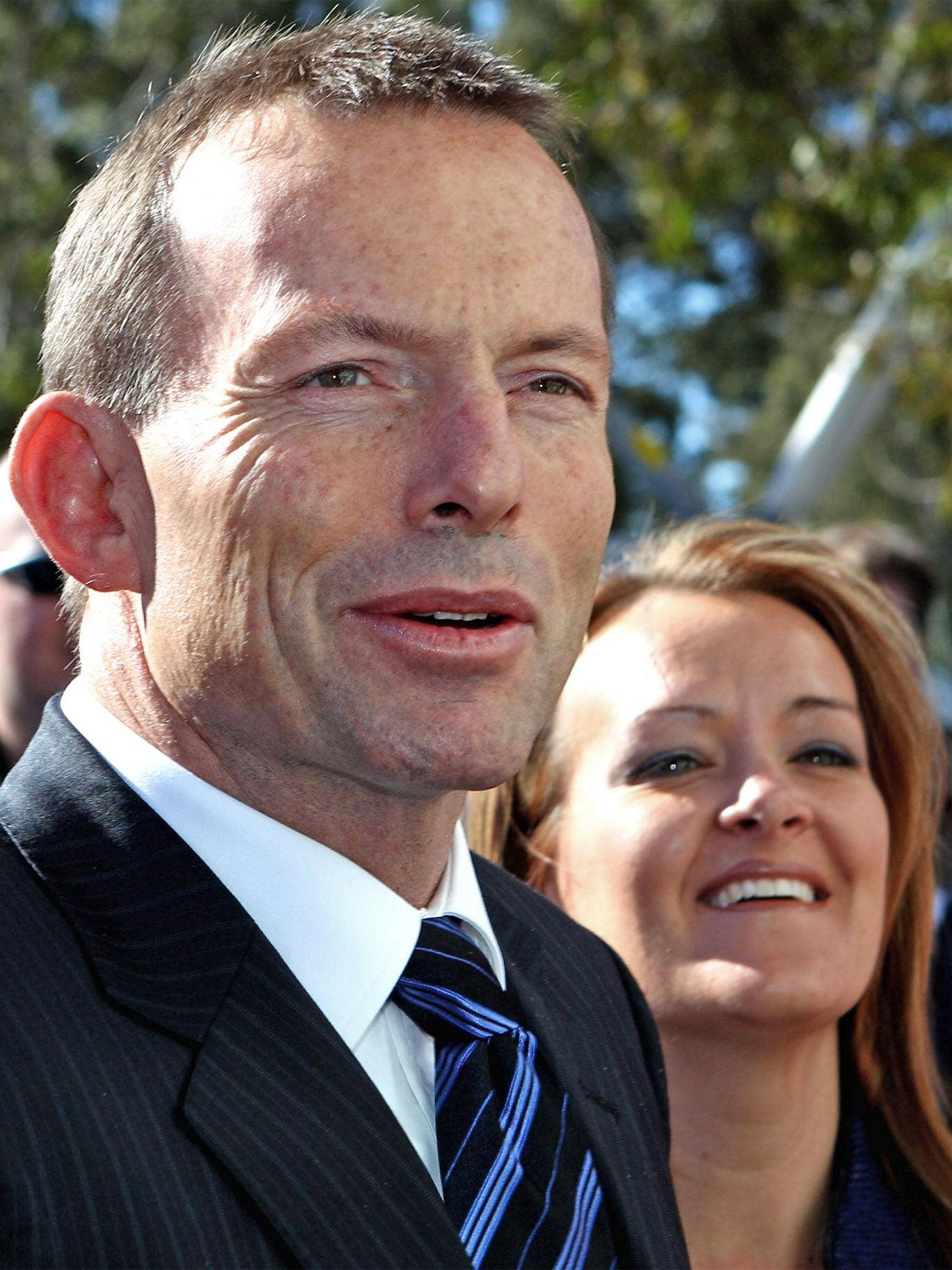 Tony Abbott with his Liberal Party candidate, Fiona Scott