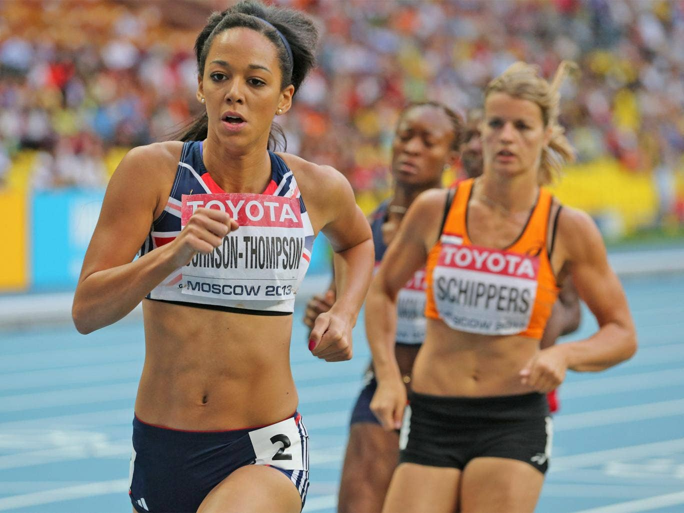 Johnson- Thompson just failed to overhaul her medal rivals in the 800m