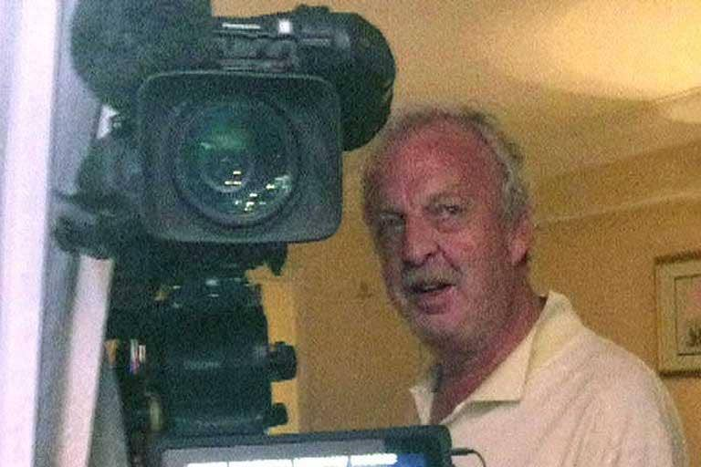 Sky News cameraman Mick Deane