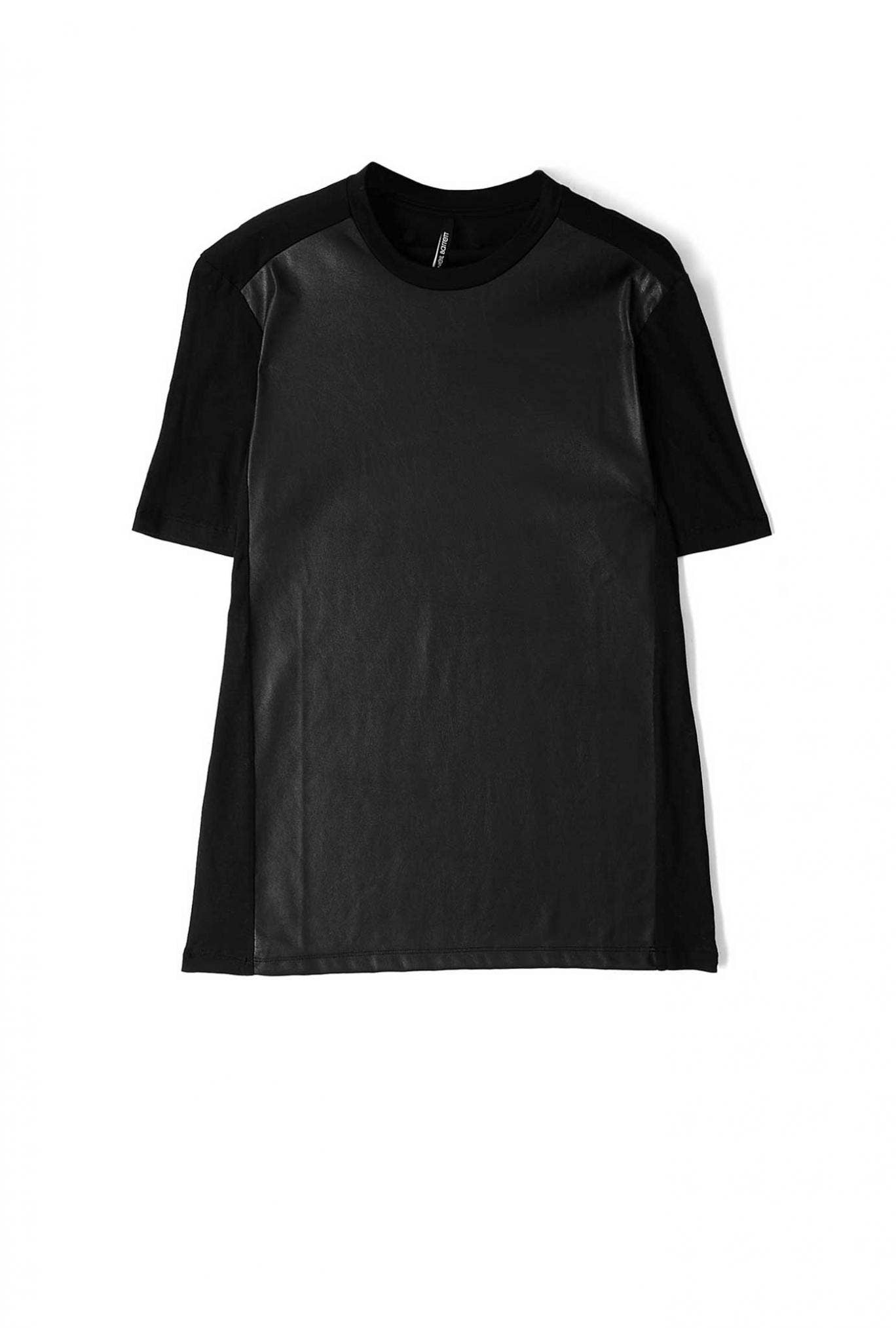 This faux-leather panelled T-shirt by Neil Barrett is something of a modern classic (£180, my-wardrobe.com)