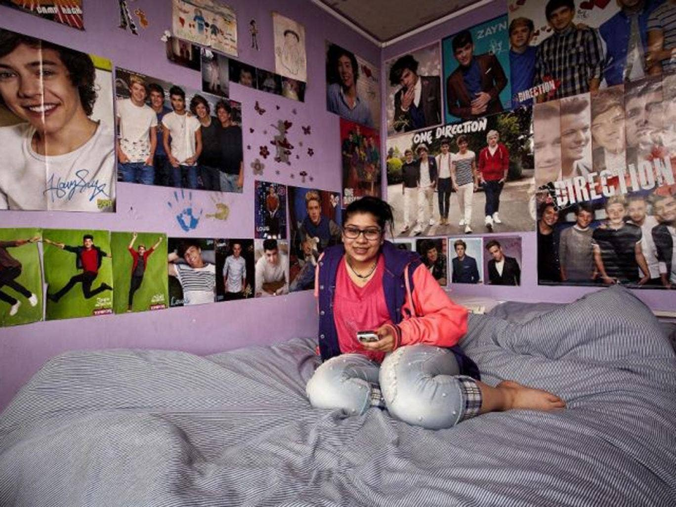 Blanket coverage: One Direction fan Natasha
