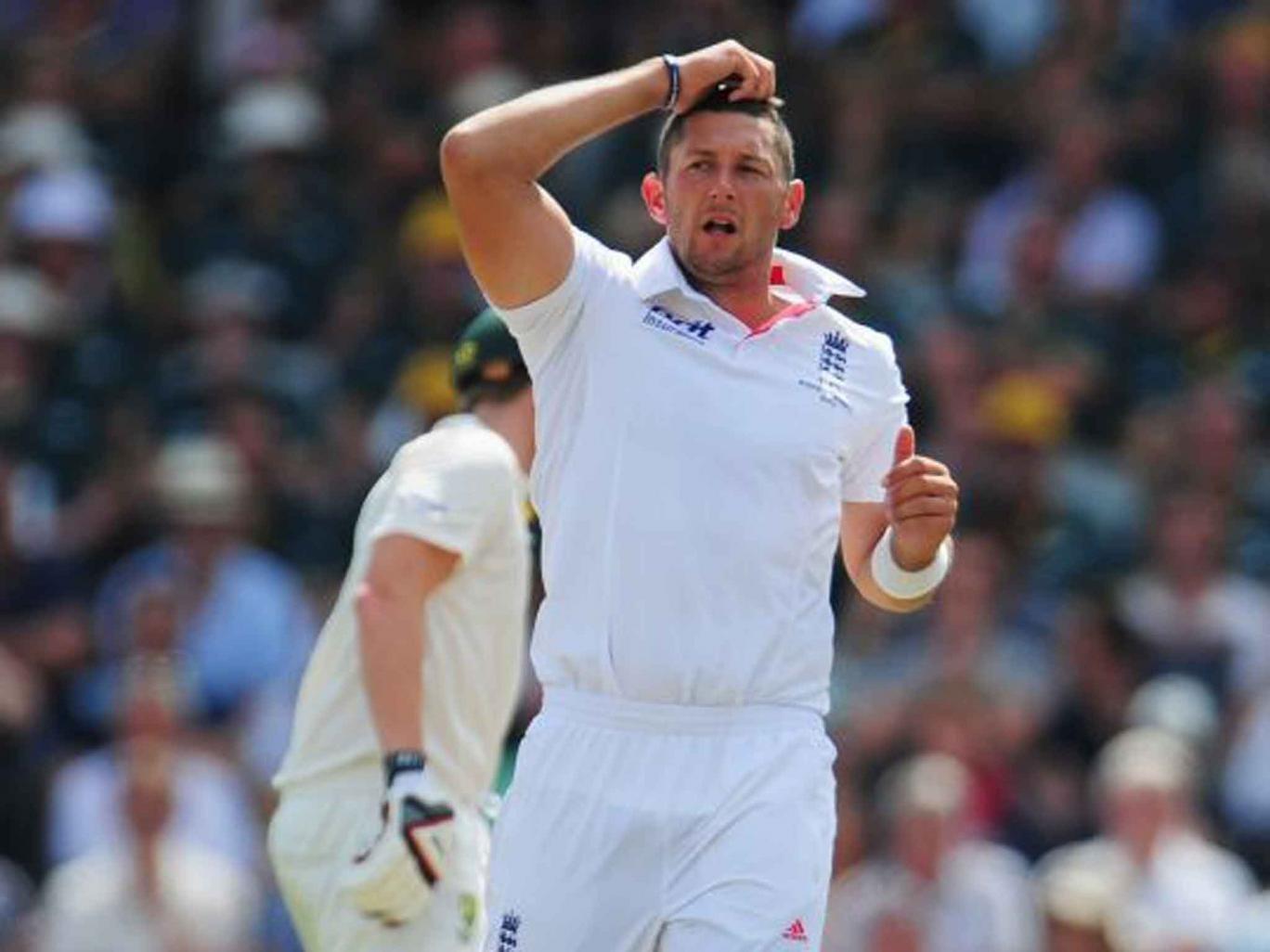 Tim Bresnan crucially dislodged David Warner in the fourth Test