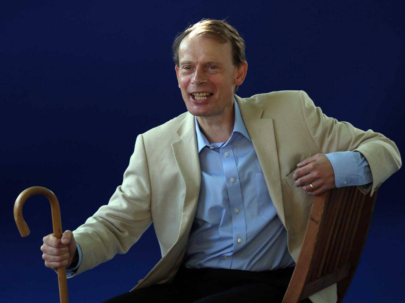 Andrew Marr makes his first appearance at a public event since he suffered a stroke