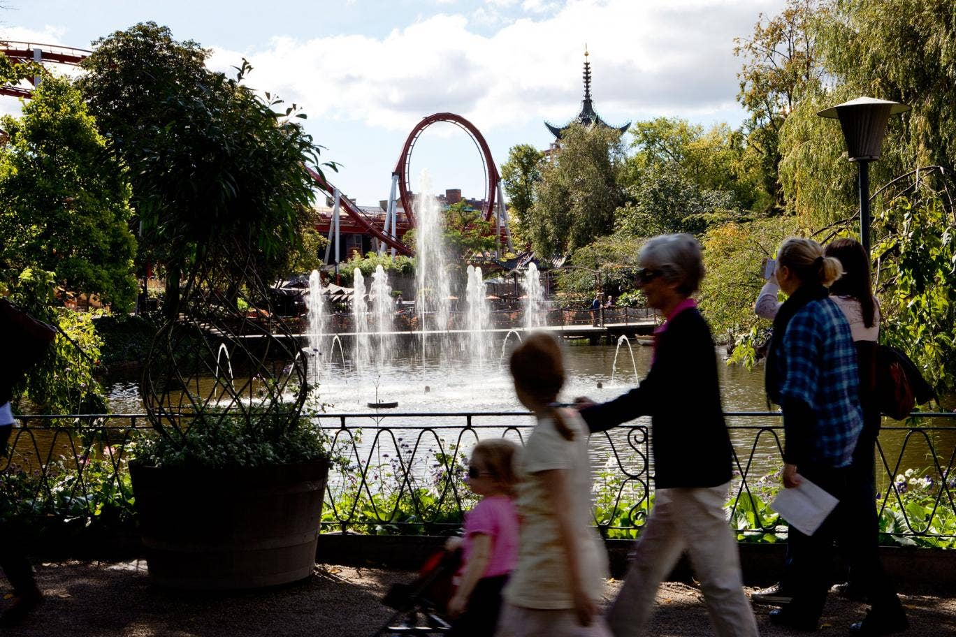 Green day out: Copenhagen is hugely proud of the Tivoli gardens