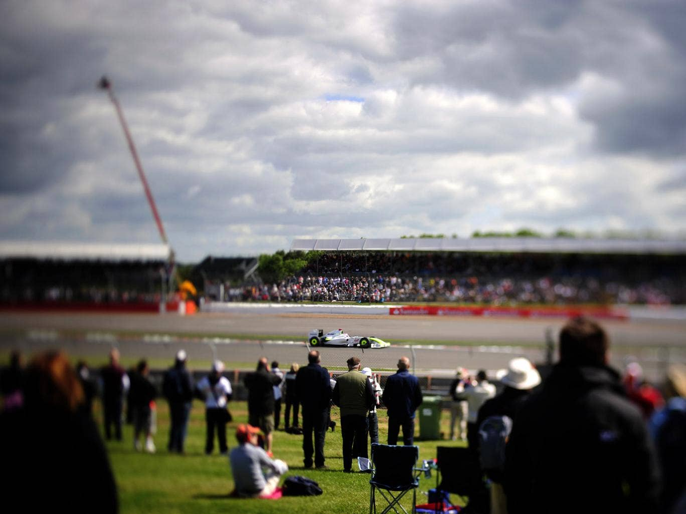 A view of the track at Silverstone