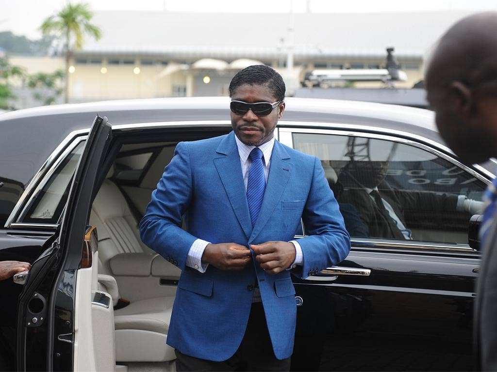 As Equatorial Guinea's forestry minister, Teodorin Nguema Obiang was paid $100,000 a year
