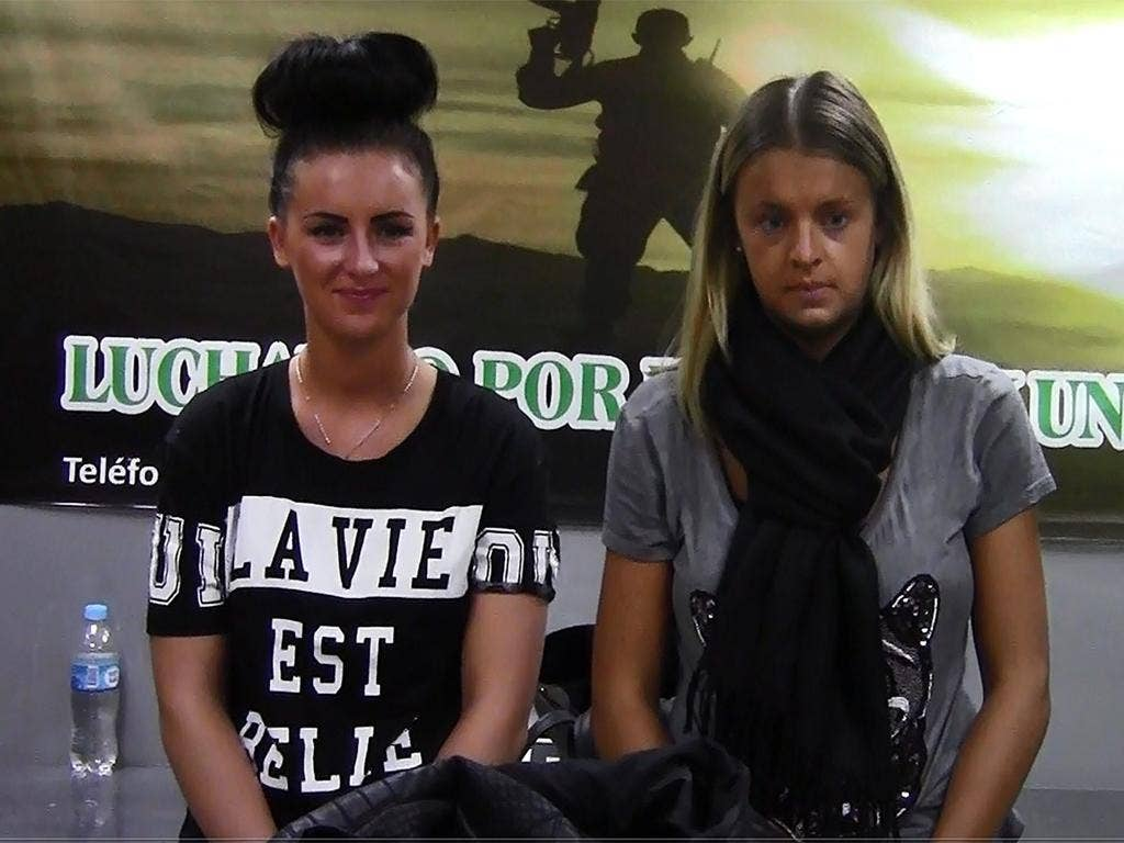 Michaella McCollum, left, and Melissa Reid were arrested on their way to Madrid, allegedly with 11kg of cocaine