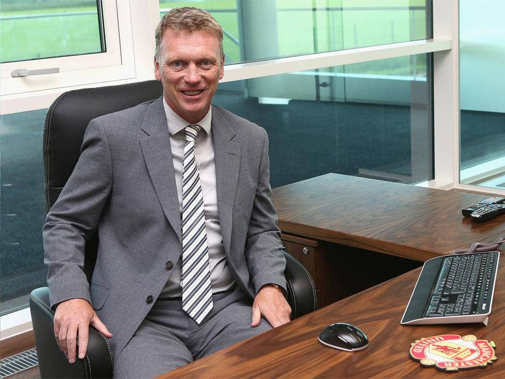 David Moyes in the United hot seat once occupied by Sir Alex Ferguson