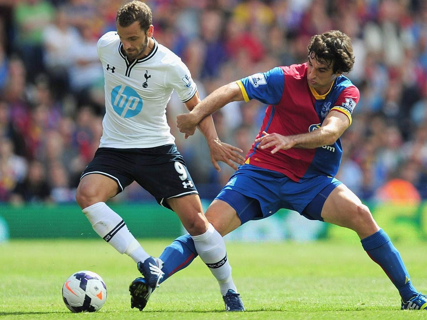 Roberto Soldado opened the scoring on his Tottenham debut with a penalty in the 50th minute