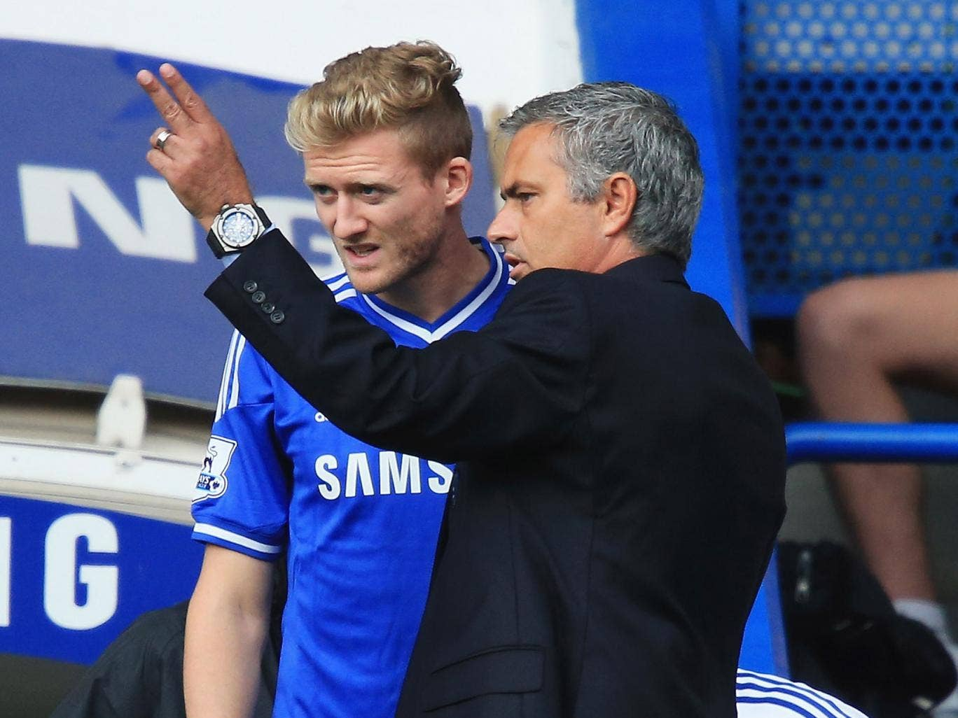 Andre Schurrle is brought on from the bench by Jose Mourinho in Chelsea's 2-0 win over Hull