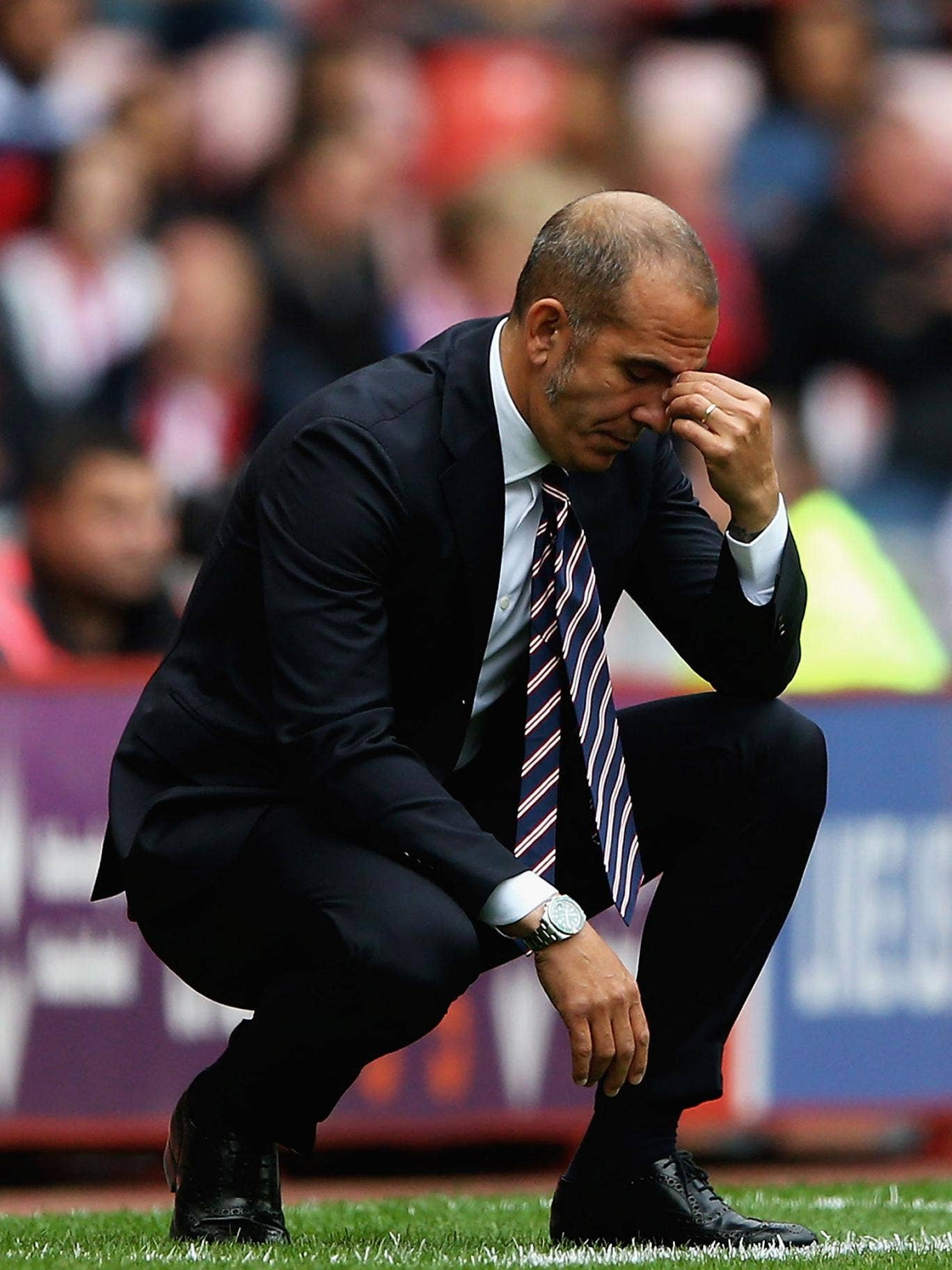 Paolo Di Canio ponders deeply a home defeat by Fulham