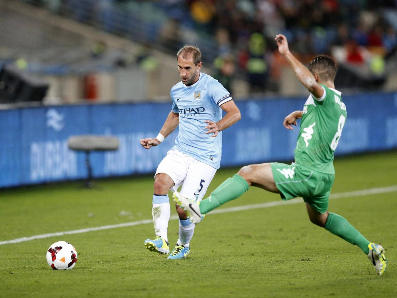 Pablo Zabaleta in pre-season action for Manchester City