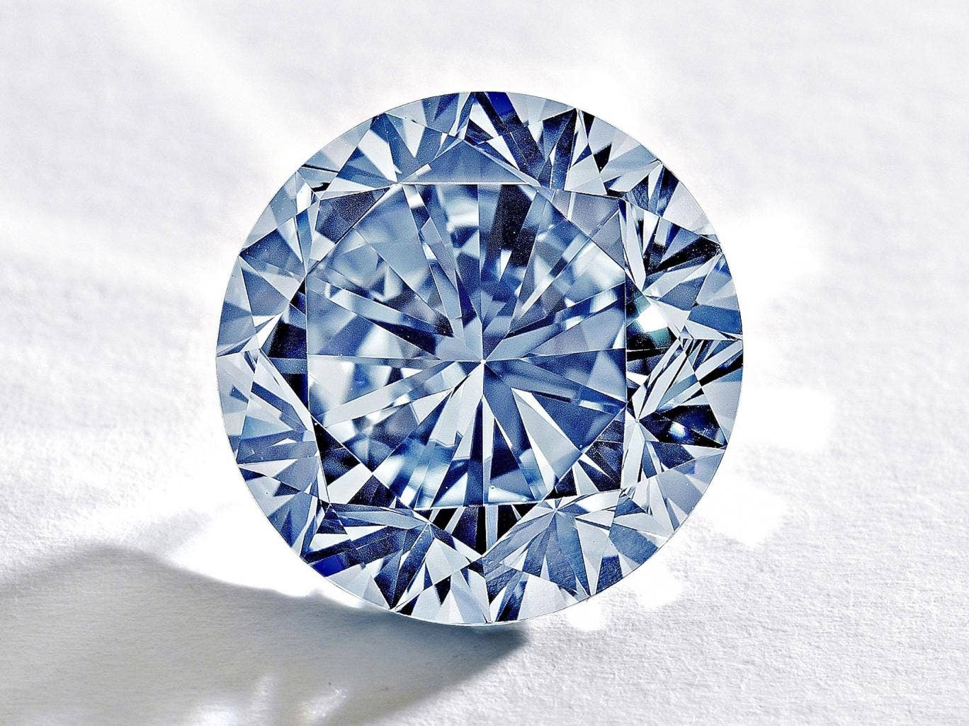 The rare round blue diamond will go under the hammer in Hong Kong in October