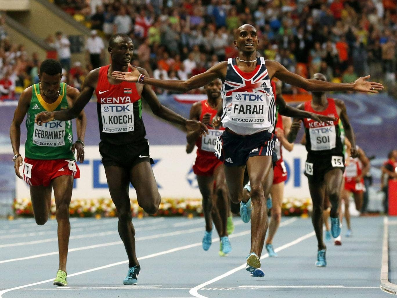 Mo Farah wins again – he is such an inspiration and really deserves his medals