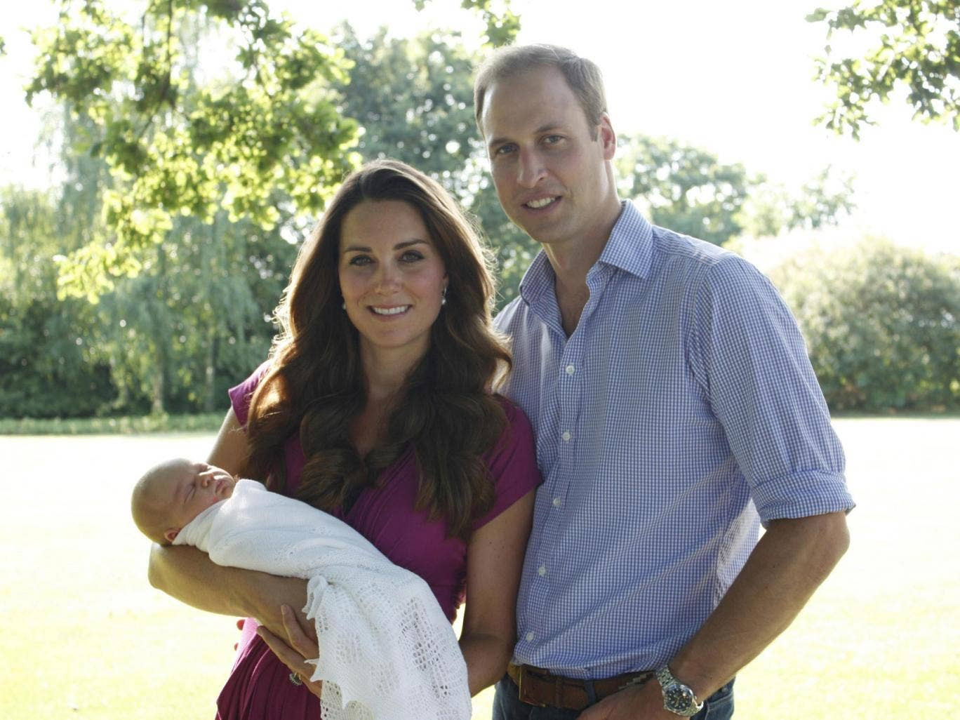 The Duke and Duchess of Cambridge 2013 with Prince George