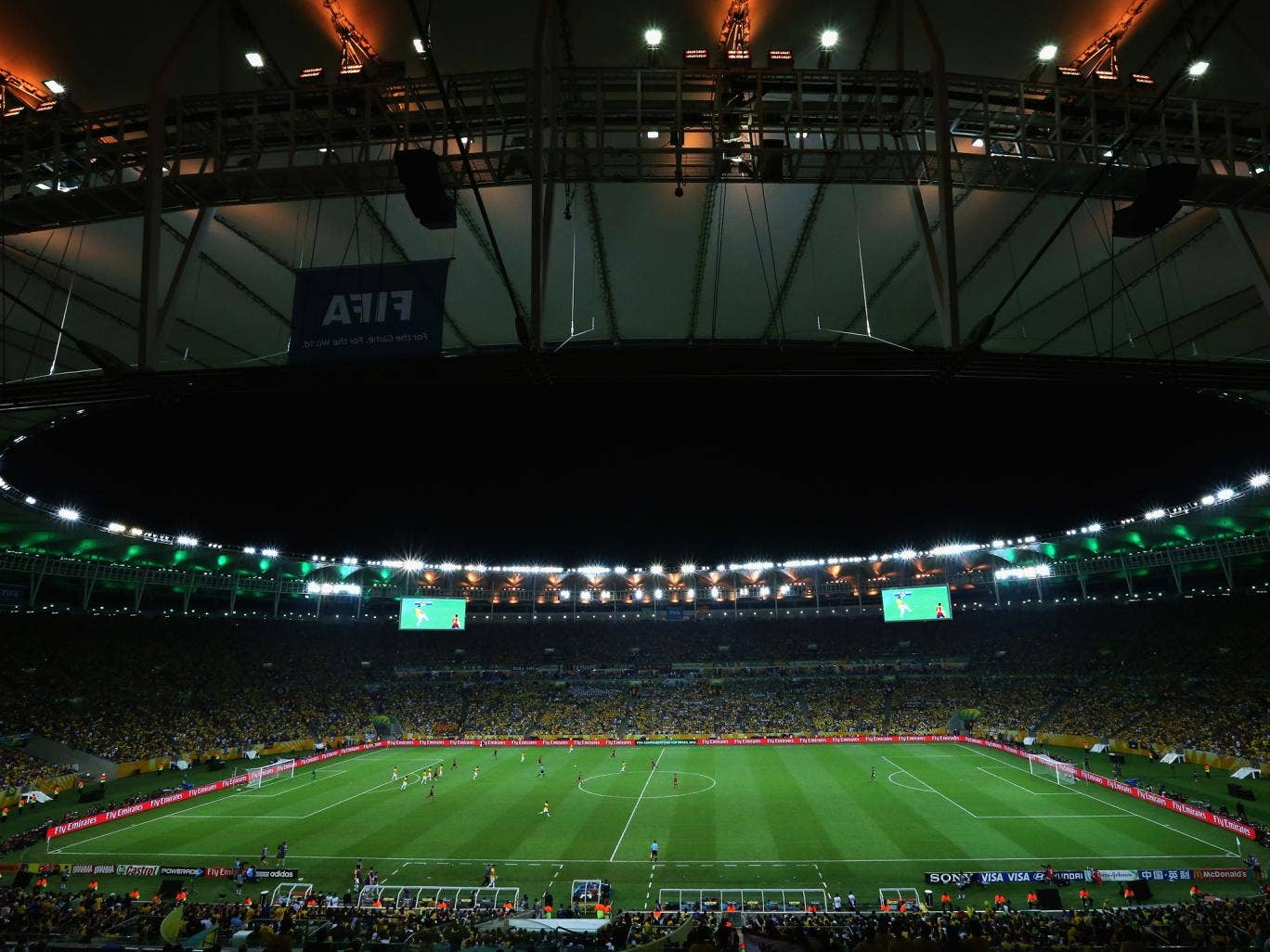 The Maracana stadium during the Confederations Cup final
